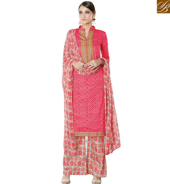 STYLISH BAZAAR WEAR INDIAN TRADITIONAL CASUAL WEAR STRAIGHT CUT DESIGNER SALWAR KAMEEZ WITH PLAZZO VDPHU18509
