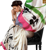 ATTRACTIVE PRINTED SAREE DESIGN VAR1851 BY STYLISH BAZAAR