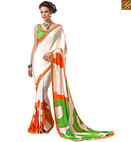 BROUGHT TO YOU BY STYLISH BAZAAR APPEALING CASUAL WEAR PRINTED SAREE BLOUSE DESIGN VAR1855