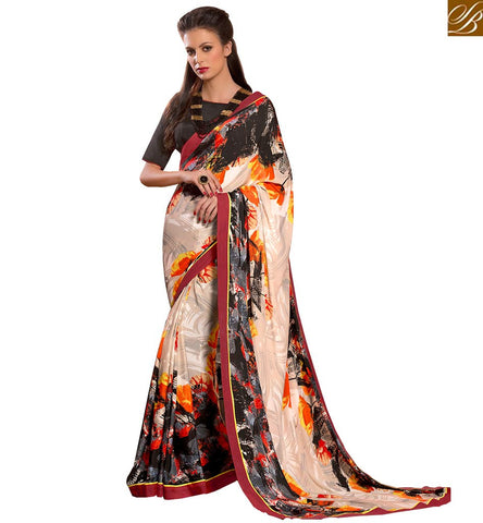 APPEALING CASUAL WEAR DIGITAL PRINTED SAREE BLOUSE DESIGN VAR1859 BY STYLISH BAZAAR '