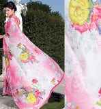 FLORAL PRINTED CASUAL WEAR SAREE RTKOR185A