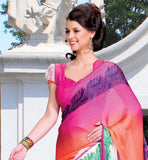 PINK PRINTED CASUAL WEAR SAREE RTKOR186