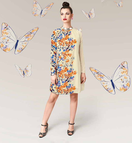 BUY EUROPEAN TUNIC TOP STYLE DIGITAL PRINTED KURTIS ONLINE INDIA