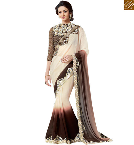 STYLISH BAZAAR PRESENTATION ENTICING DESIGNER PARTY WEAR SARI VAR1906
