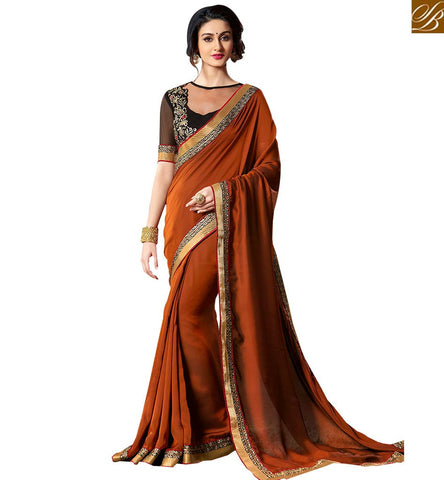 STYLISH BAZAAR GOOD-LOOKING DESIGNER PARTY WEAR SARI DESIGN VAR1909