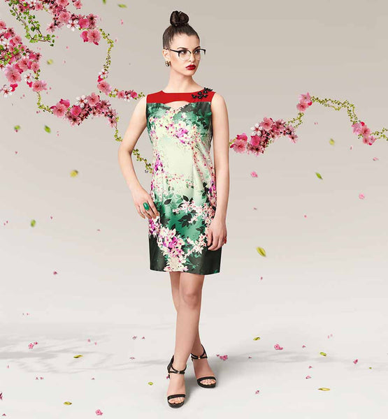 BUY FASHIONISTA DIGITAL FLORAL PRINT FROCK STYLE LADIES TUNIC TOPS