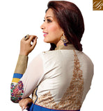 BOLLYWOOD CELEBRITY SONALI BENDRE DESIGNER ANARKALI ONLINE SHOPPING INDIA BLUE DRESS