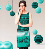 BUY ETHNIC STYLE PRINTED COTTON LADIES TUNICS TO WEAR WITH JEANS