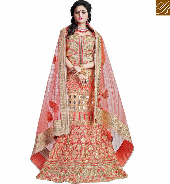 BROUGHT TO YOU OF STYLISH BAZAAR FASHIONABLE EMBROIDERED GHAGHRA CHOLI MCU2192