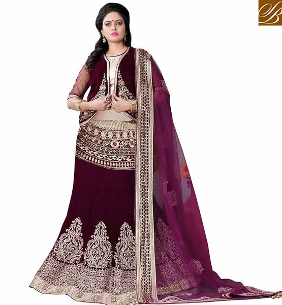 BROUGHT TO YOU BY STYLISH TRENDY JACKET STYLE LEHENGA SAREE MCU2193