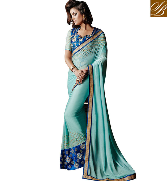 FAMOUS INDIAN FASHION DESIGNERS LOOK HEAVY SAREES AT BOUTIQUE RATES ANKM19
