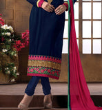 2015 DESIGN LADIES WEAR SALWAR KAMEEZ DRESS MATERIAL SHOP ONLINE NAVY BLUE