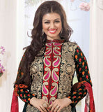 BOLLYWOOD ACTRESS AYESHA TAKIA LATEST FASHION COTTON DRESS MATERIAL