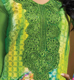 BUY ONLINE EMBROIDERED & PRINTED PARTY WEAR GEORGETTE SALWAR SUIT GREEN