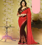 BUY ONLINE NEW FASHION ZARINE KHAN DESIGNER PARTY WEAR SAREE BLOUSE