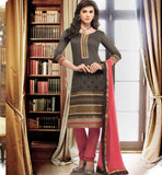 CASUAL SALWAR KAMEEZ FOR WOMEN BANARASI CHANDERI WITH CHIFFON DUPATTA