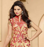 CLASSY CREAM PARTY WEAR SALWAR SUIT DRESS FOR WOMEN