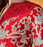 1 DIA MIRZA RED JACKET STYLE LEHENGA WITH LONG CHOLI C