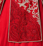 1 DIA MIRZA RED JACKET STYLE LEHENGA WITH LONG CHOLI D