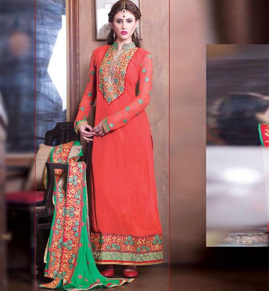 STYLISH BAZAAR GEORGETTE PARTY WEAR DESIGNER SALWAR KAMEEZ