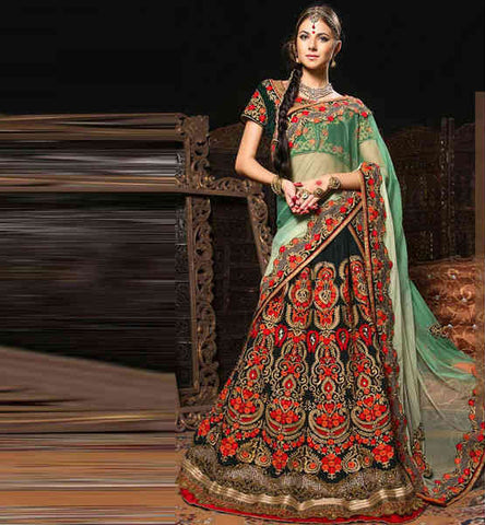 Latest 2015 designer Indian Bridal Lehenga Choli with price