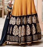 NET & GEORGETTE ANARKALI WITH PURE CHIFFON DUPATTA & SANTOON BOTTOM