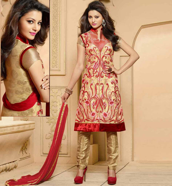 PURCHASE INDIAN PARTY WEAR SALWAR SUIT SHOP ONLINE CHIFFON DUPATTA