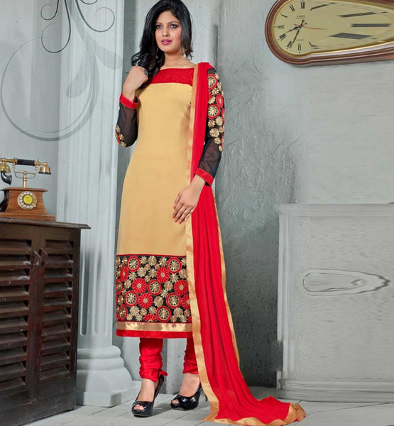 Sale offer on designer party wear straight cut salwar kameez
