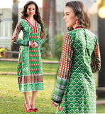 NECK PATTERN FOR KURTIS PRINTED LONG SHIRT DESIGN PURE COTTON GREEN FULL SLEEVE KURTHI FOR WOMEN