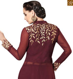 FROM THE HOUSE OF STYLISH BAZAAR WONDERFUL BROWN GEORGETTE DESIGNER SUIT MODERN STYLE WITH BROWN NET LEHENGA SLMHK20009