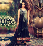 KANGANA RANAUT MUAKK COLLECTION DRESS BY ARCHANA KOCHHAR BLACK AND GREY SHADED GEORGETTE DRESS WITH CHIFFON DUPATTA AND LYCRA SALWAR