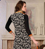 COOL BLACK EMBROIDERED LONG PARTY WEAR KURTI WITH SALWAR & DUPATTA