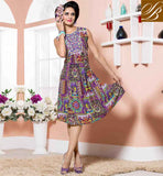 PAKISTANI DESIGNER KURTIS WITH DIFFERENT CUTS COLLECTION STELLAR PURPLE COTTON RAYON FABRIC KURTI, LOOK LIKE TIP TOP PERSONALITY
