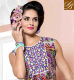 STELLAR PURPLE COTTON RAYON FABRIC KURTI, LOOK LIKE TIP TOP PERSONALITY FANTASTIC PRINTED KURTIS FOR CAUSAL WEAR ARE FROM OUR LATEST DESIGNER KURTIS 2015 COLLECTION