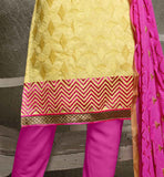 STYLISH STRAIGHT CUT SALWAR KAMEEZ IN PINK COLOR COTTON FABRIC AND EMBROIDERY WORK PAKISTANI FROCKS 2015 BEST AND BEAUTIFUL DRESSES SHALWAR KAMEEZ DESIGNER SUIT VDISH2005