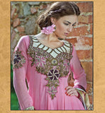 PEPPY PINK ANARKALI SALWAR SUIT INZH2005 - STYLISHBAZAAR - Churidar Dresses, online churidar shopping, Churidar Suits, churidar designs, Indian Churidar Dresses, churidar materials