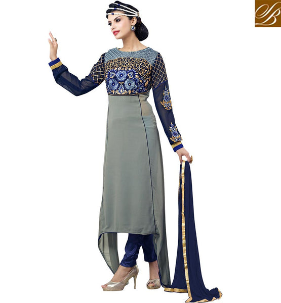 FROM STYLISH BAZAAR DELIGHTFUL DESIGNER SALWAAR KAMEEZ DESIGN VDASN2006