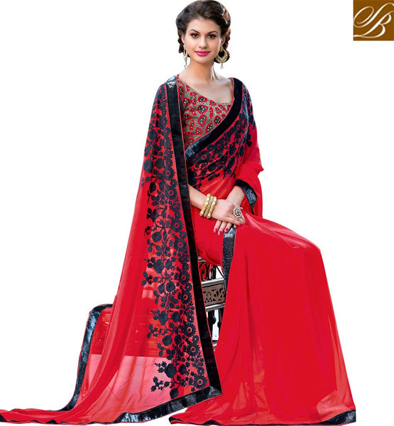A STYLISH BAZAAR PRESENTATION INTERESTINGLY DESIGNED FASHIONABLE SAREE RTSTR2006