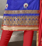 THIS BEUTIFULL DESIGNER DRESS DECORATED WITH FLORAL EMBROIDERY AND ZARI WORK PUNJABI PARTY WEAR BEAUTIFUL DRESSES SHALWAR KAMEEZ DESIGNS SUITS FOR WOMEN  VDISH2007
