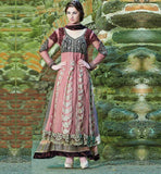 PLEASING PINK ANARKALI SALWAR SUIT INZH2007 - STYLISHBAZAAR - wedding dress, cheap wedding dresses, designer wedding dresses, indian wedding dresses, wedding dress designers, indian wedding clothing, Indian Wedding Wear