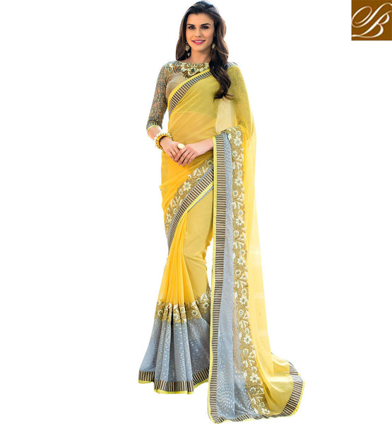 BROUGHT TO YOU BY STYLISH BAZAAR FASCINATING DESIGNER FAUX CHIFFON SAREE RTSTR2007