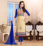 INVOGUE GEORGETTE SALWAR SUIT WITH SMART COLOR COMBINATION
