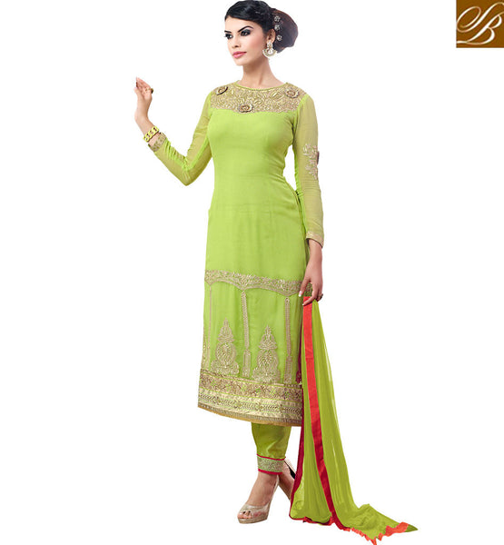 STYLISH BAZAAR INTRODUCES WELL DESIGNED FLOWERY PATTERNED SALWAAR KAMEEZ DRESS VDASN2008