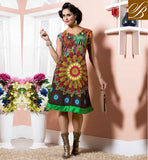 NECK DESIGNS FOR KURTI TOP DESIGNER NECKLINES FOR GIRLS FABULOUS BROWN COTTON RAYON FABRIC KURTI