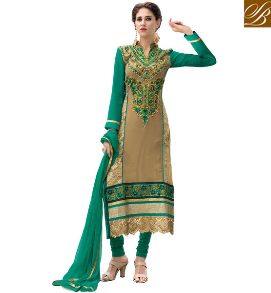 BUY DESIGNER SALWAR KAMEEZ FOR WOMEN ONLINE  GREAT COLOR COMBINATION OF SALWAR KAMEEZ IN GEORGETTE FABRIC