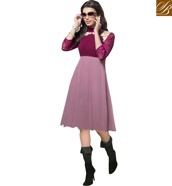FROM STYLISH BAZAAR RAVISHING TWO SHADED DESIGNER KURTI VDSCH2010