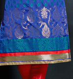 BLUE KURTI WITH RED TIGHT CHURIDAR SALWAR