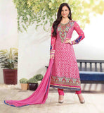 BOLLYWOOD CELEBRITY ELLI AVRAM PLEASING PINK SALWAR KAMEEZ DUPATTA