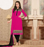 GLAMOROUS GEORGETTE DRESS WITH DIFFERENT LOOK FRONT AND BACK