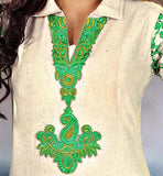 kurti embroidery neck designs